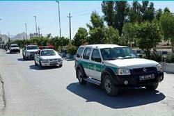رژه خودرویی به مناسبت هفته نیروی انتظامی در سرپلذهاب