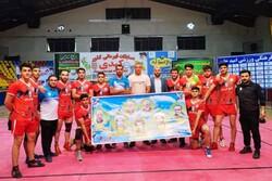 تیم کبدی خوزستان در مسابقات بزرگسالان کشور نایبقهرمان شد