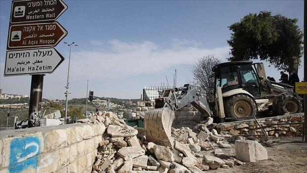 اسرائیلی حکومت نے فلسطینی شہداء کے قدیم قبرستان کو مسمار کردیا