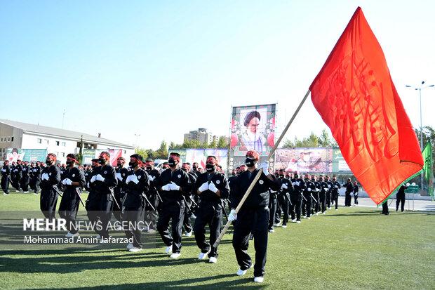 حفل صباحي مشترك لقيادة قوى الأمن الداخلي بالعاصمة طهران / بالصور