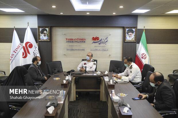بازدید رئیس پلیس راهور تهران بزرگ از خبرگزاری مهر