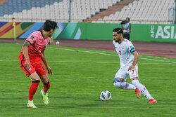 دیدار تیم های فوتبال ایران و کره جنوبی