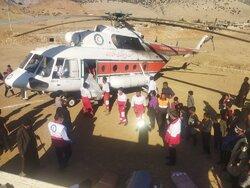 Distributing aid in quake-hit Andika