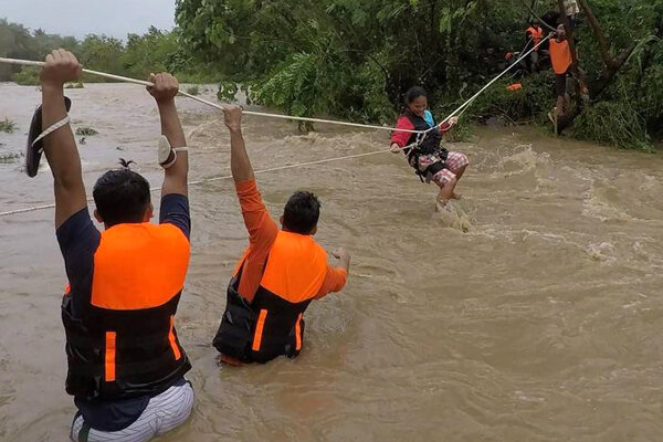 9 dead in Philippines after tropical storm, landslides