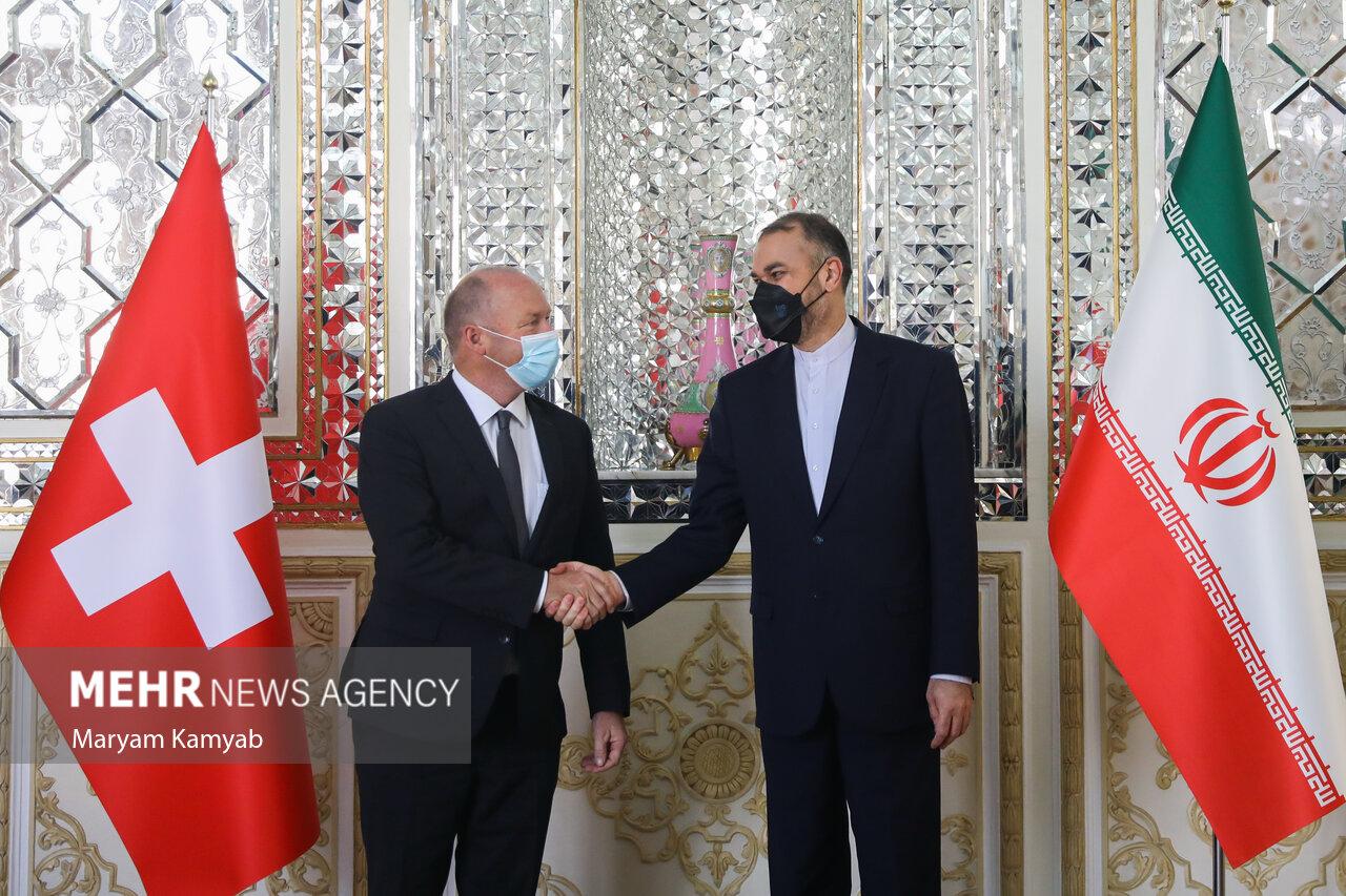 دیدار رئیس مجلس سوئیس با وزیر امور خارجه