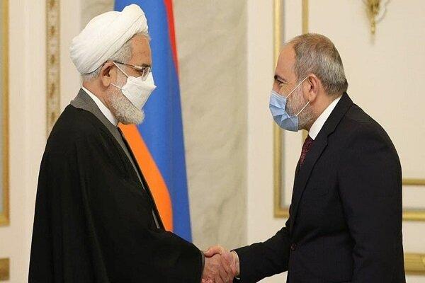 Iran prosecutor general meets with Armenian PM in Yerevan