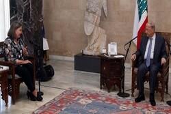 دیدار معاون وزیر خارجه آمریکا با رئیس جمهور لبنان