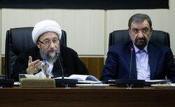 قدردانی آملی لاریجانی از فعالیتهای «محسن رضایی» در دبیرخانه مجمع تشخیص