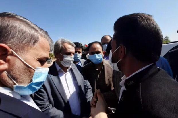درد و دل های مردم کوار با وزیر صمت