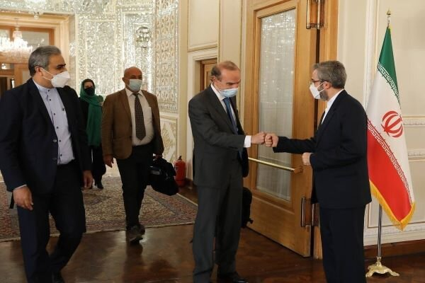 Iranian Deputy FM receives EU's Enrique Mora in Tehran