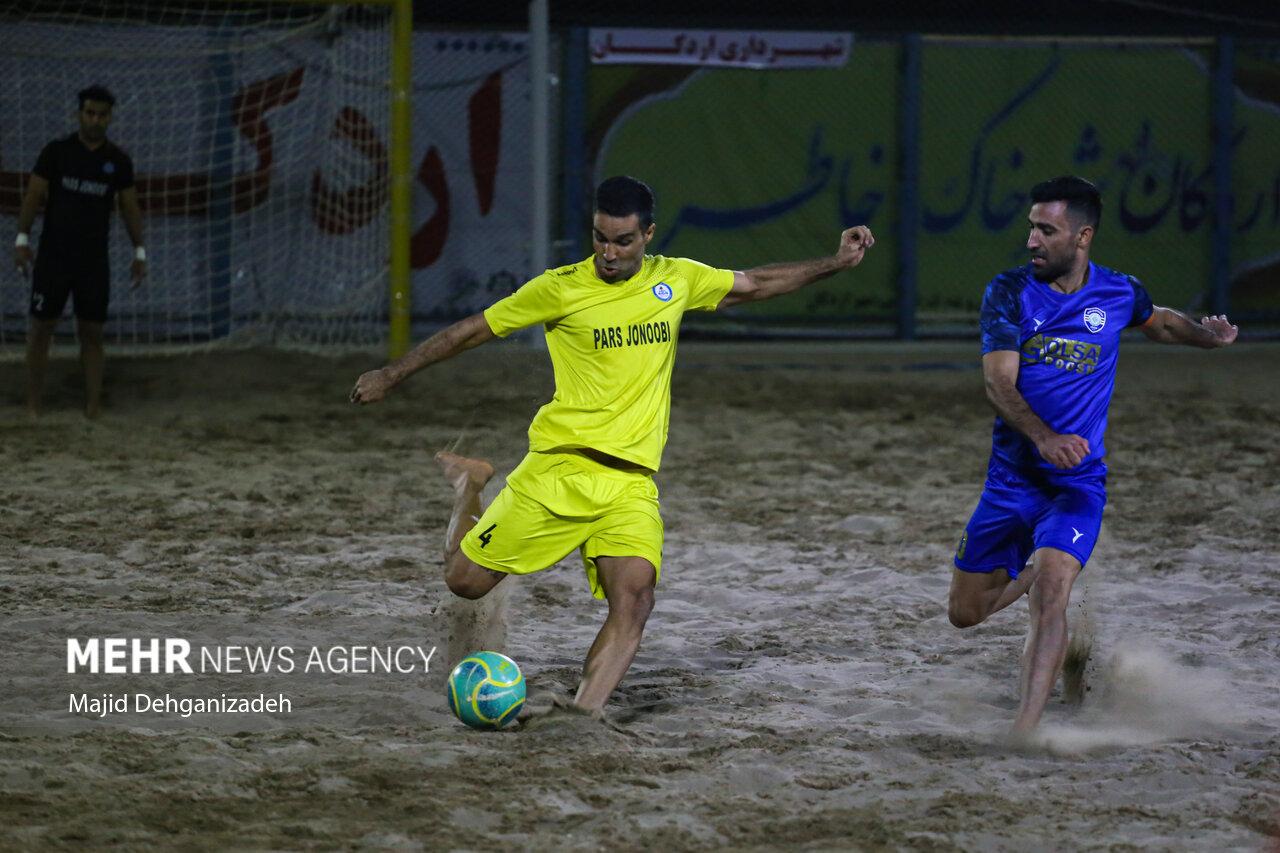 اختتامیه مسابقات لیگ برتر فوتبال ساحلی کشور