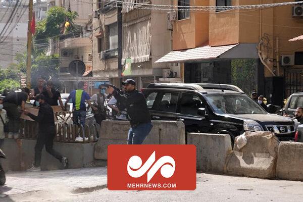 تیراندازی و درگیری مسلحانه در لبنان