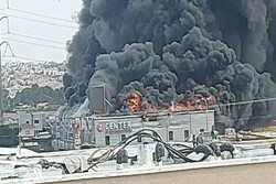 Huge fire breaks out in commercial complex in Occupied Lands