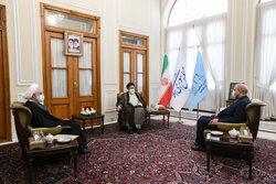 اجتماع رؤساء السلطات الإيرانية الثلاث بضيافة قاليباف/ بالصور