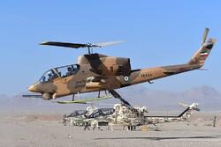 نمایش قدرت آتش هوایی خلبانان هوانیروز