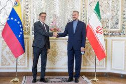İran ve Venezuela dışişleri bakanlarının görüşmesinden fotoğraflar