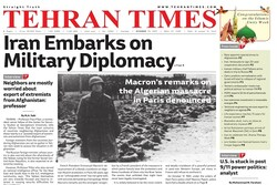 Front pages of Iran's English dailies on October 19