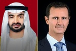 Syrian president, Abu Dhabi crown prince hold phone call