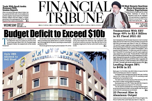 Front pages of Iran's English dailies on October 20