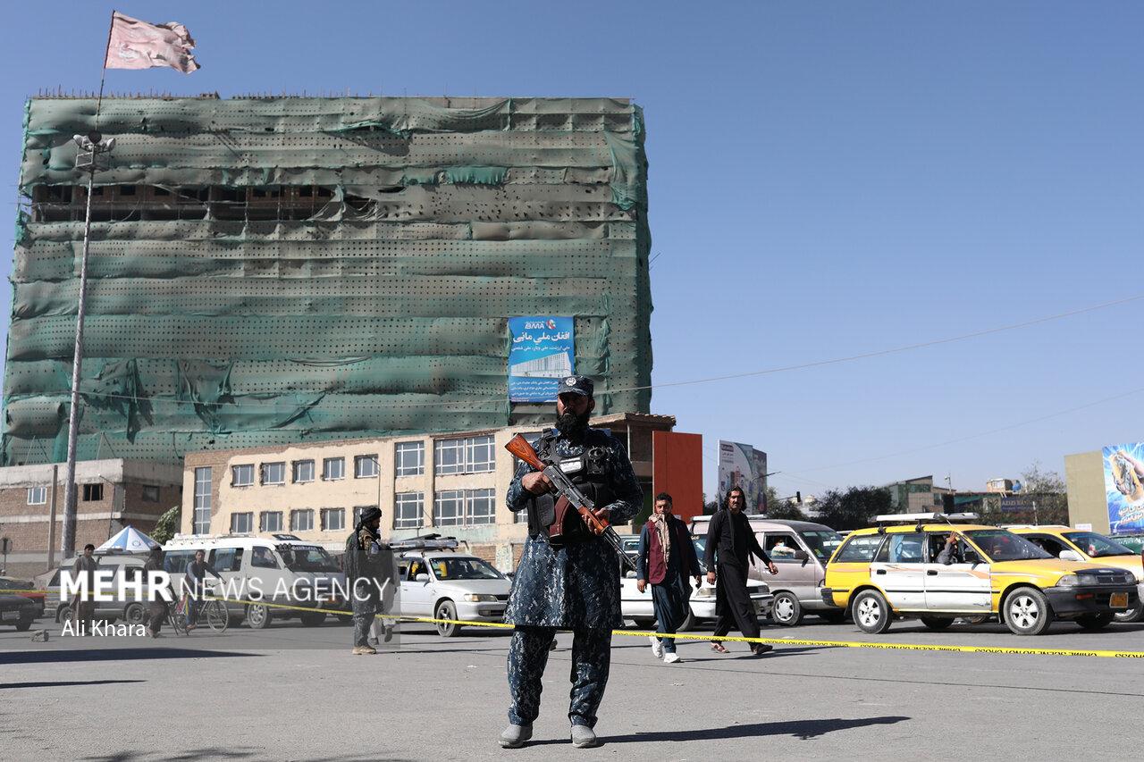 محل انفجار بمب صبح امروز در شهر کابل