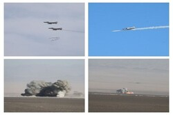 Iran's Air Force destroys enemy targets using 'Yasin 90' bomb