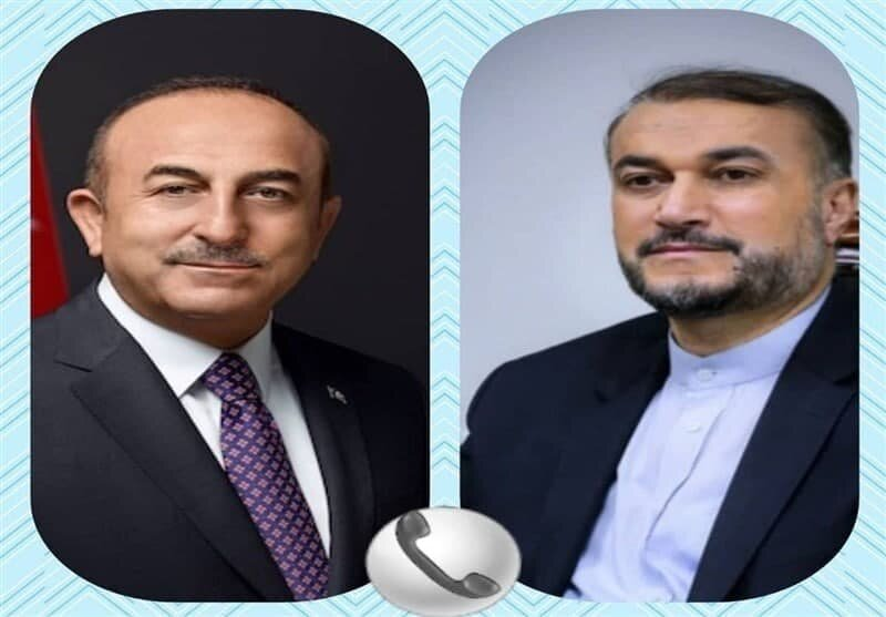 گفتگوی تلفنی وزرای امور خارجه ایران و ترکیه