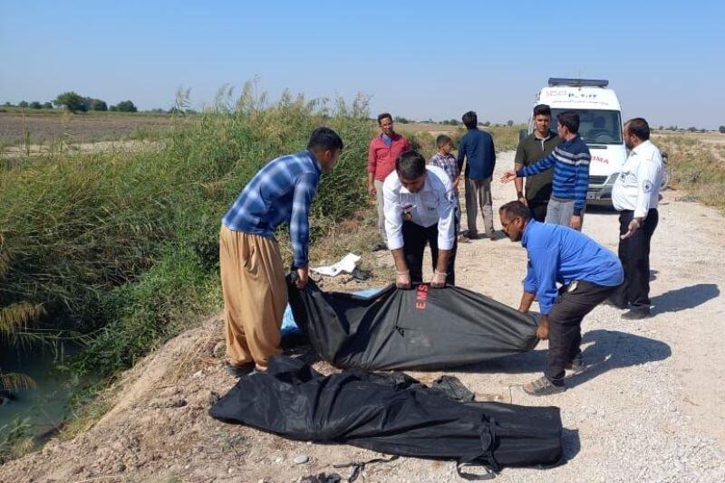 سقوط خودرو در کانال آب روستای سید نور دزفول ۴ کشته و ۳ مجروح داشت