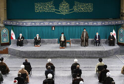 Leader's meeting with Islamic Unity Conf.'s guests