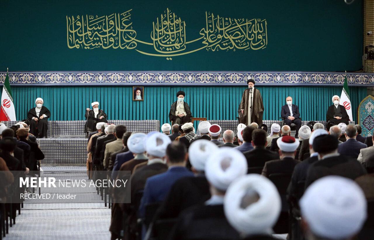 دیدار میهمانان کنفرانس وحدت اسلامی با رهبر معظم انقلاب