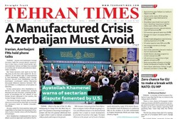 Front pages of Iran's English dailies on October 25