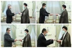 ایرانی صدر کو قرقیزستان بیلجئم ، فن لینڈ  اور سوئیس کے سفراء نے سفارتی اسناد پیش کئے