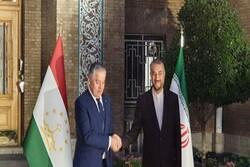 وزرای خارجه ایران و تاجیکستان دیدار و گفتگو کردند