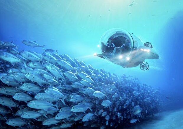 طرح اولیه زیردریایی برقی با سرعت ۸ گره