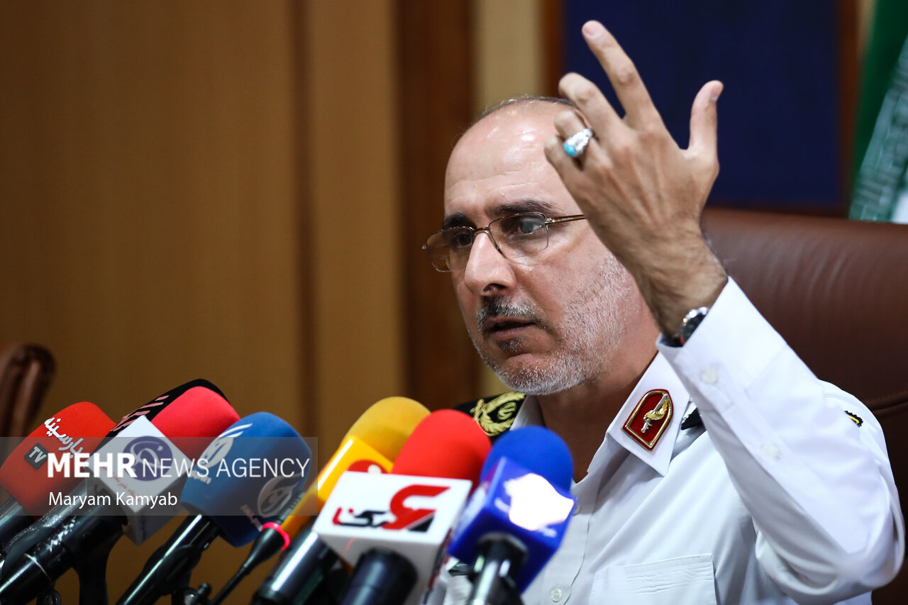 نشست خبری رئیس پلیس راهور تهران بزرگ