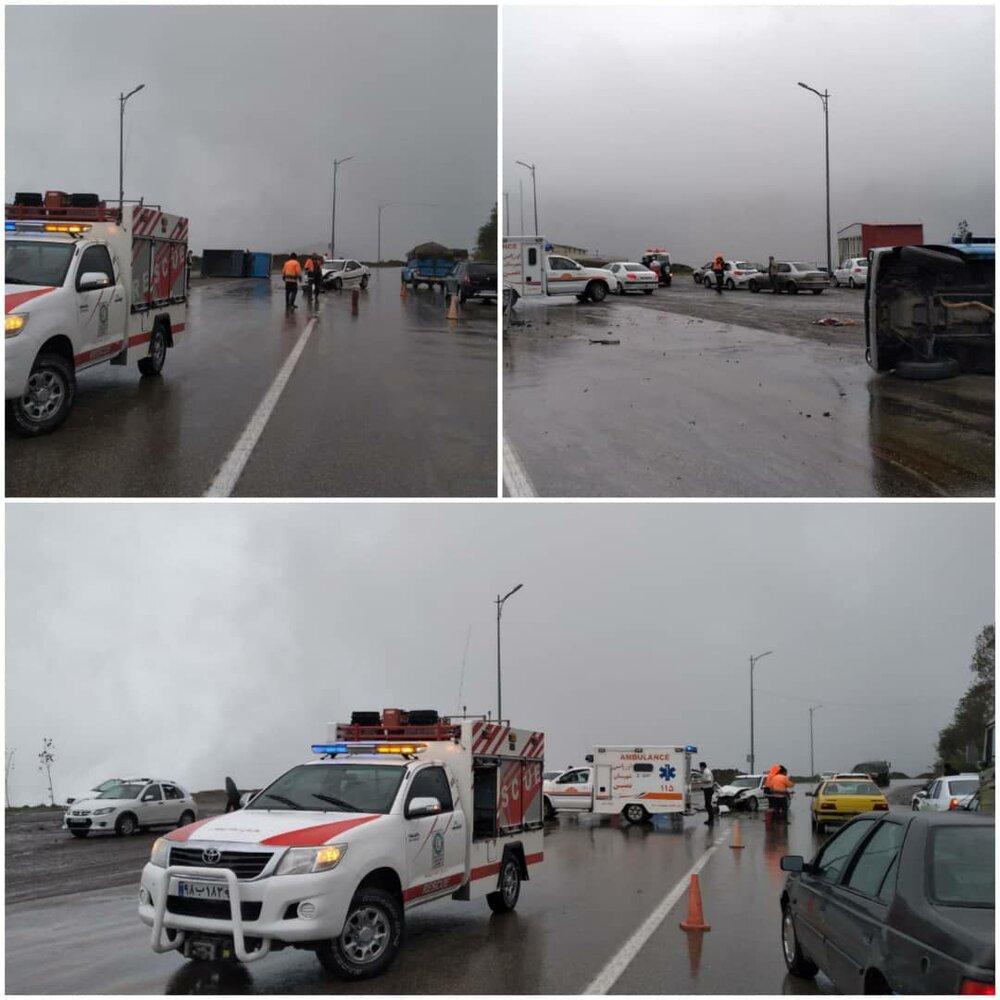 ۵ نفر در اثر تصادف در جاده اردبیل-آستارا مصدوم شدند