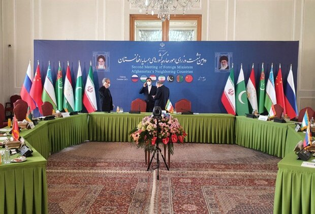 نشست وزرای خارجه کشورهای همسایه افغانستان در تهران آغاز شد