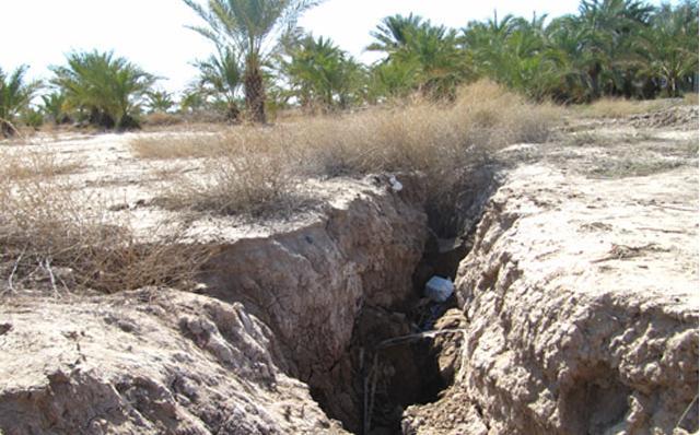 شکاف چند کیلومتری زمین در جنوب کرمان/ حفره ای با طول 4 کیلومتر