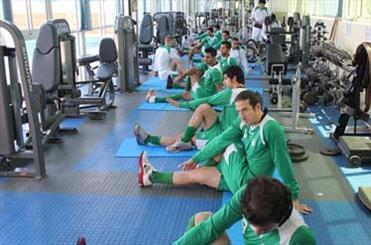 تمرین تیم ملی فوتبال ایران در سالن بدنسازی