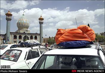 مسافران نوروزی در شیراز