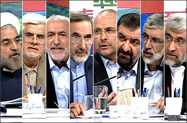 دومین مناظره زنده تلویزیونی 8 کاندیدا برگزار شد/ از ماهواره تا اعتیاد و از سینما تا خانواده موضوع گفتگوی نامزدها