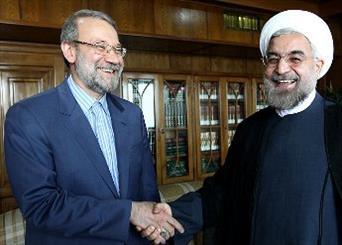 اولین جلسه مشترک روحانی با لاریجانی درخصوص کابینه دولت آینده