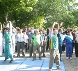 ایستگاه ورزش و سلامتی در ساری برپا شد