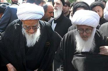 پیاده روی مراجع عظام تقلید در عزای صادق آل محمد(ع)