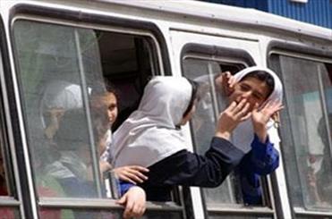 سرویس مدرسه دخترانه در شیراز واژگون شد