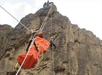 مانور امداد و نجات کوهستان در گلزار شهدای گمنام شاهرود