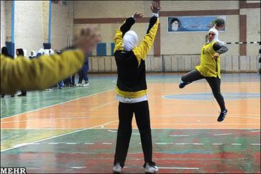 قهرمانی تیم نوشهر در مسابقات هندبال بانوان مازندران