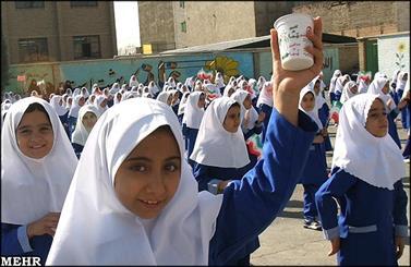 توزیع شیر رایگان در مدارس استان بوشهر آغاز شد