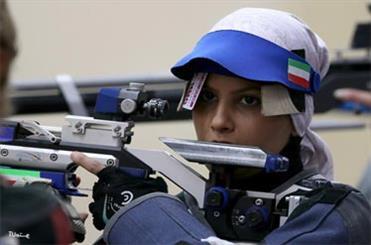 الهه احمدی مدال نقره تفنگ بادی را کسب کرد