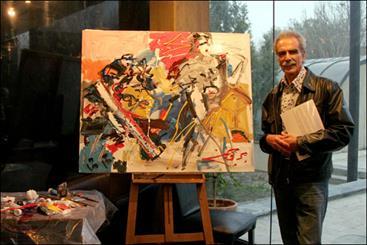 خالق «ابرها و گل» به موزه هنرهای معاصر رفت