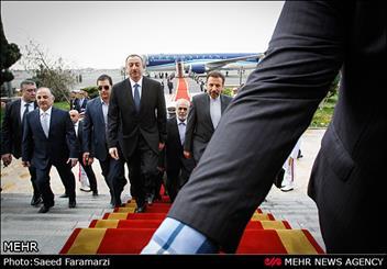 رئيس جمهورية اذربيجان يصل طهران للمشاركة في القمة الثلاثية